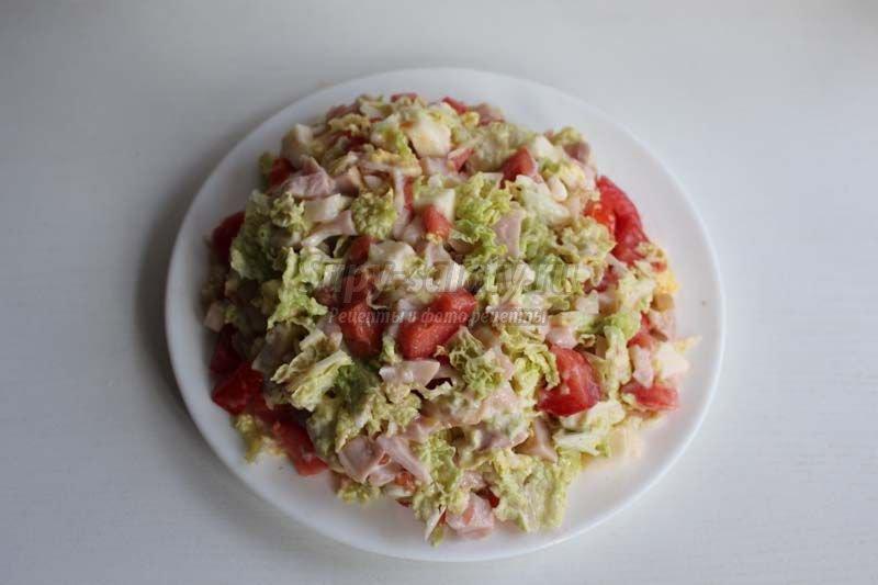 Рецепты салатов с сырокопченой