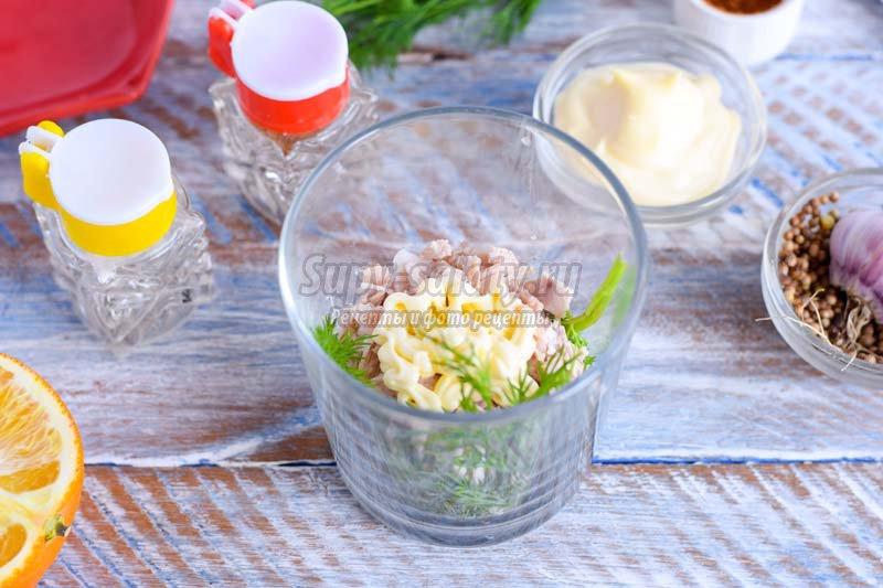 салат с курицей и апельсинами рецепт