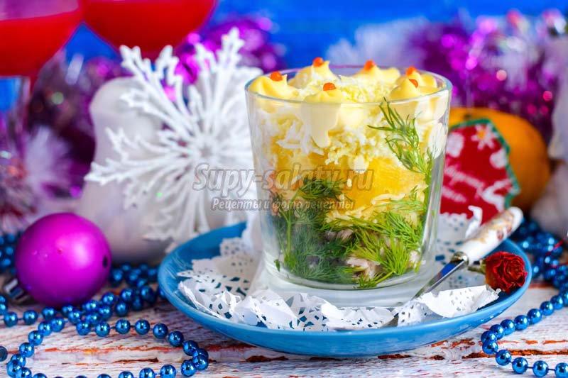 рецепт салатов с апельсином с сыром