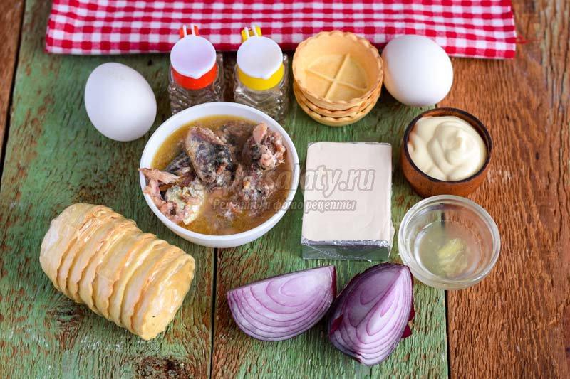 закуска из сардины и сыра