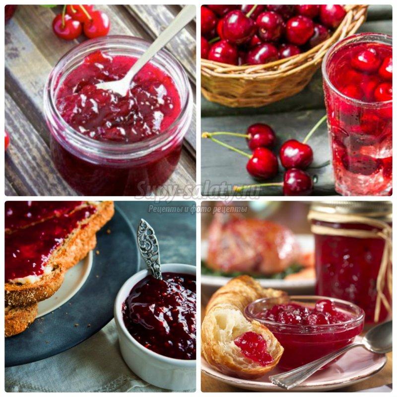 Рецепт варенья из вишни без косточек в собственном соку с сахаром на зиму