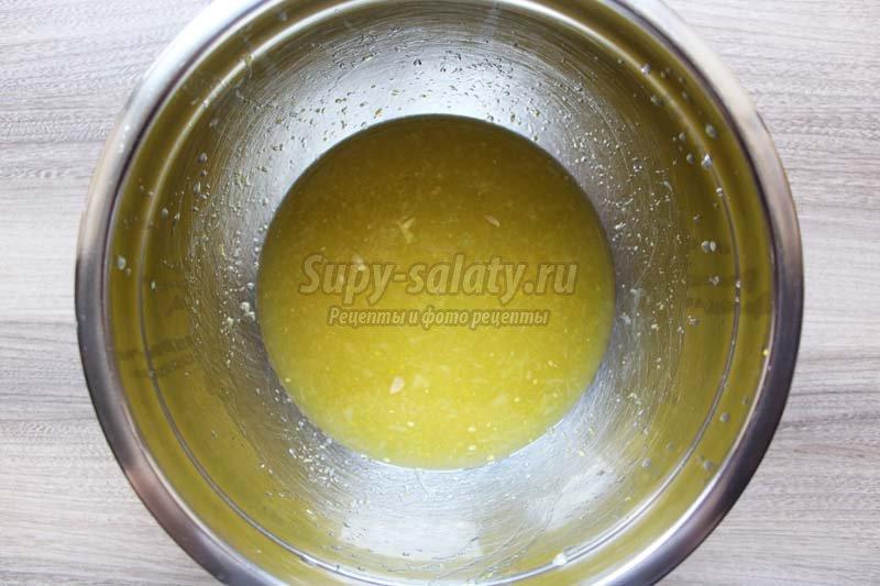 рулет с лимонной начинкой рецепт