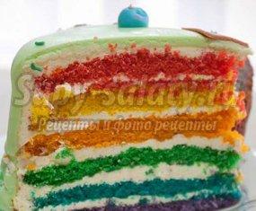 Торт Радуга – вкусно и оригинально