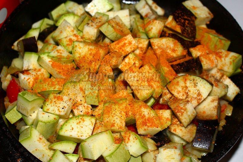 овощное рагу с фасолью рецепт
