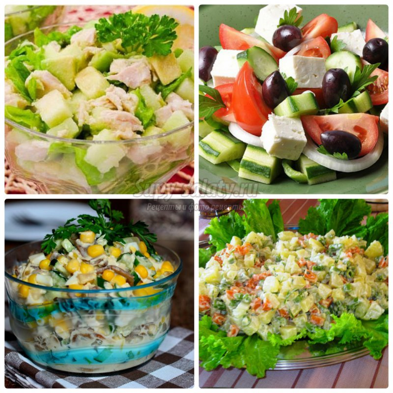 вкусные салаты с майонезом рецепты с фото