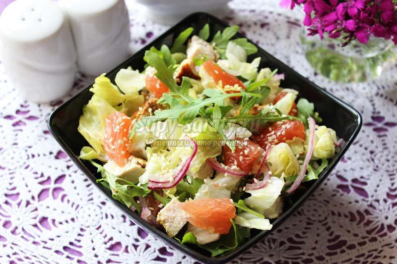 салаты с куриной грудкой рецепты с фото