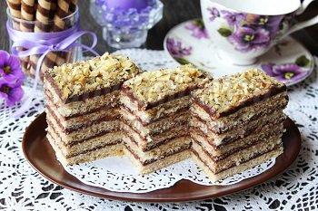 пирожное с шоколадным кремом