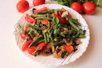 салаты со стручковым фасолью