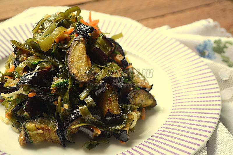 Салат из баклажан с капустой по-корейски