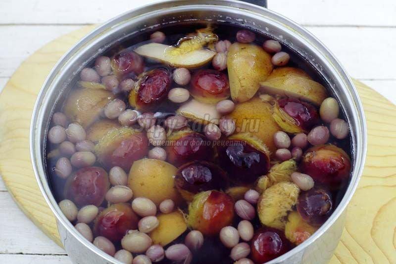 компот из груш слив и винограда