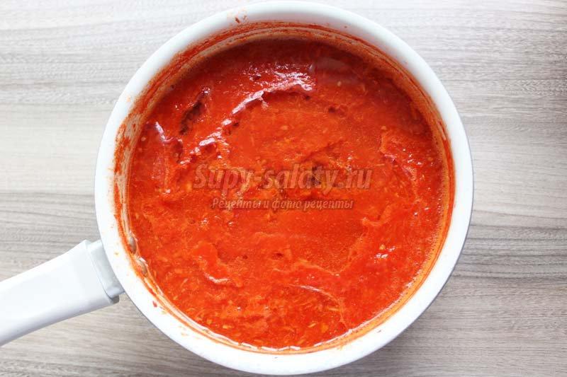 соус помидоры перец чеснок