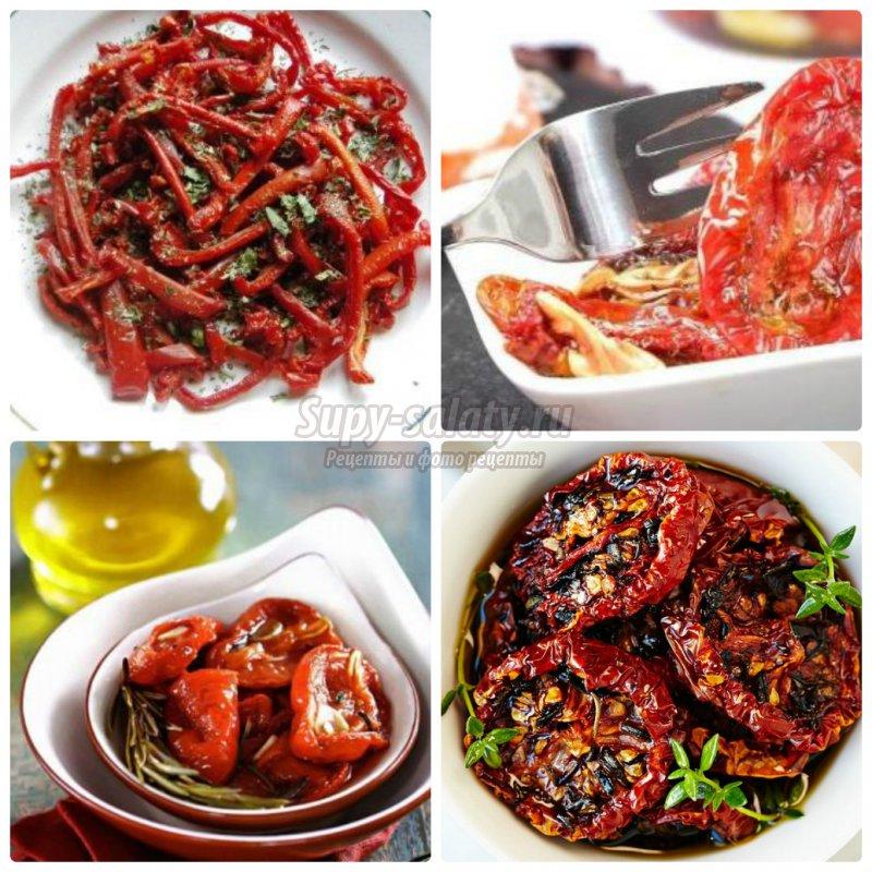Как приготовить вяленые помидоры  на зиму: пошаговые рецепты с фото