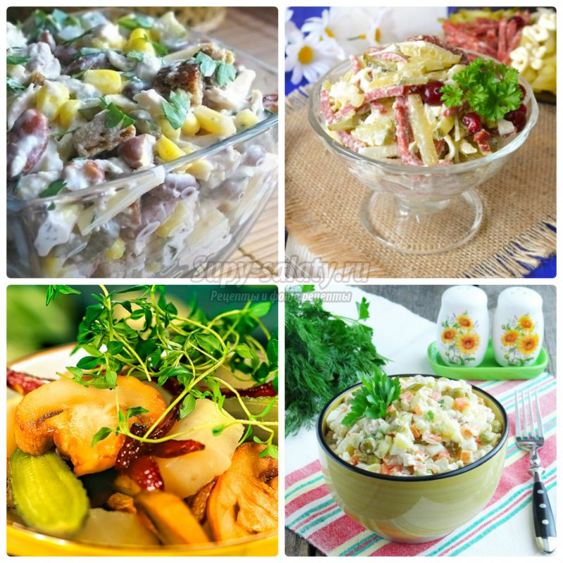 Какой салат можно приготовить с солеными огурцами
