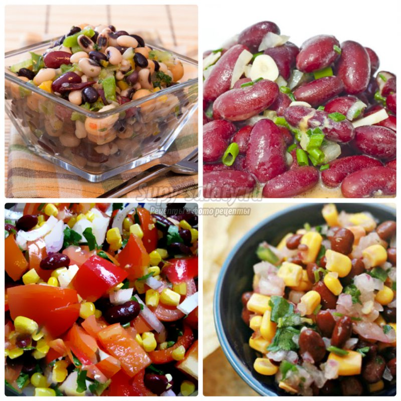 Салат  с красной фасолью консервированной: золотые рецепты с фото