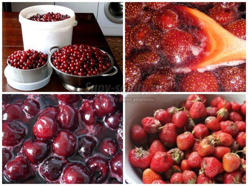 Варенье из вишни и клубники: золотые рецепты с фото