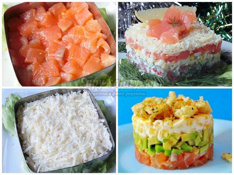 Рецепт салата с рыбными консервами пошагово