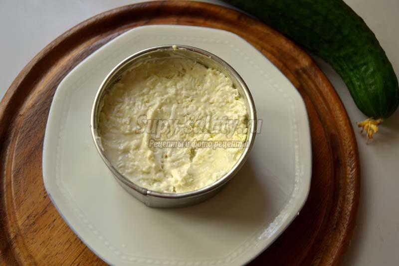 слоеный салат с семгой рецепт