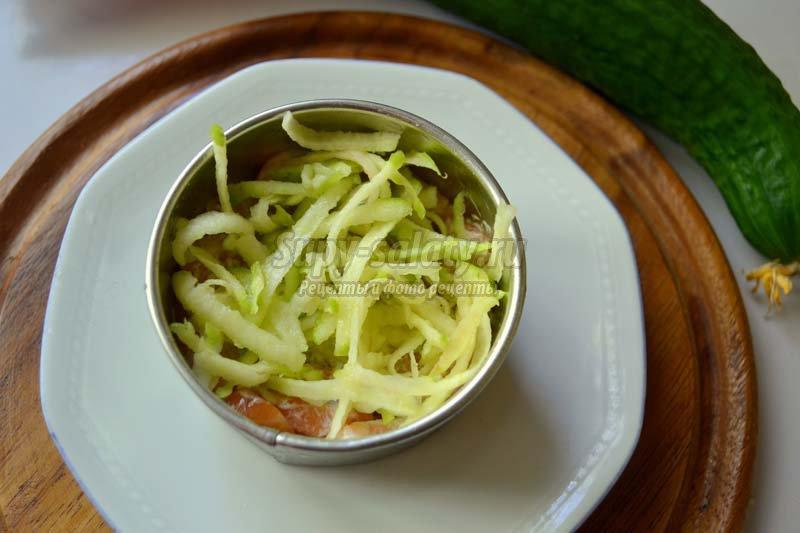 слоеный салат +с семгой рецепт