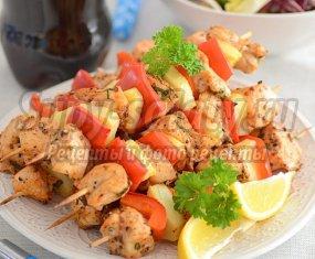 Шашлык из курицы на шпажках: вкусные рецепты с фото