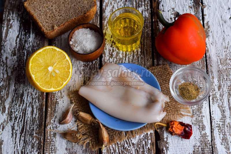 Вкусная закуска с кальмаром
