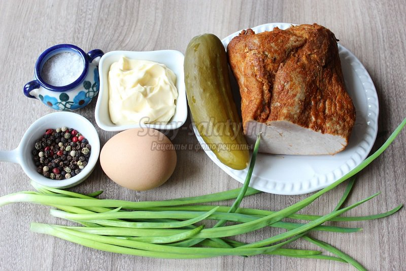 салат с бужениной