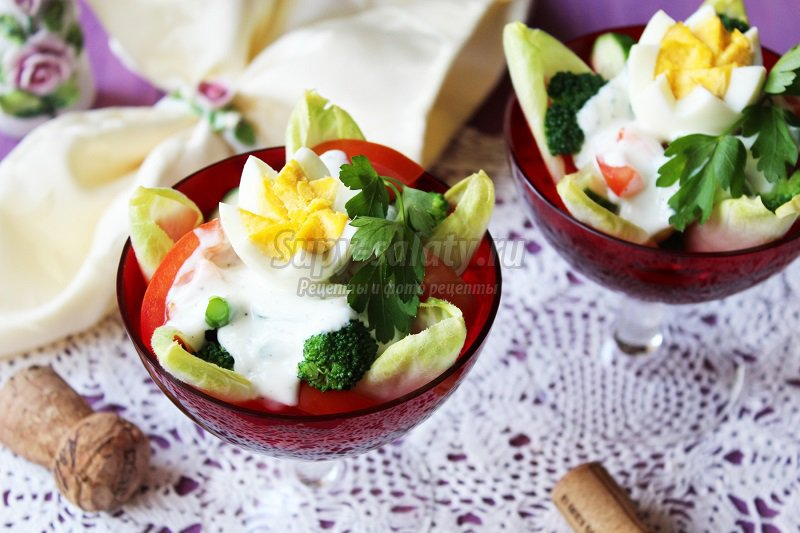 овощные салаты с яйцом рецепты