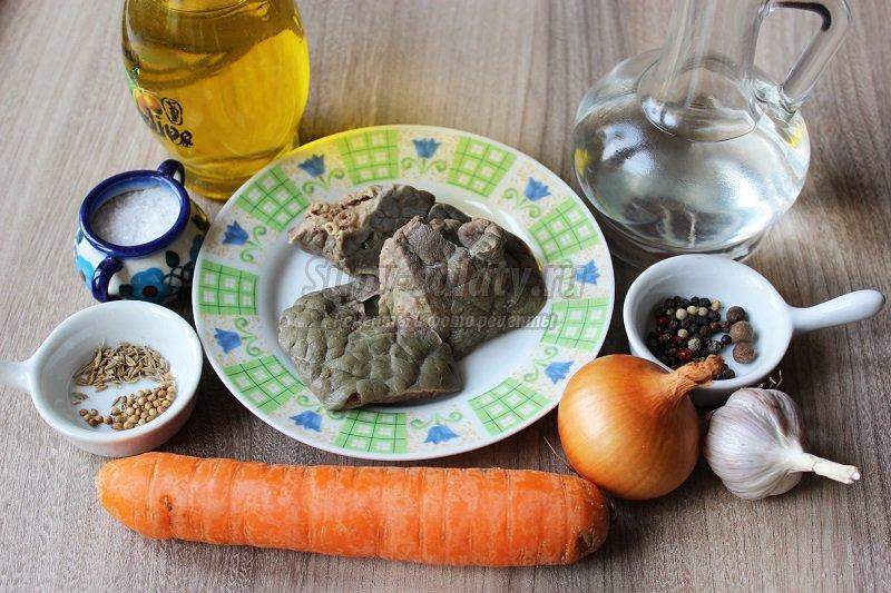 салат с легкими и корейской морковью