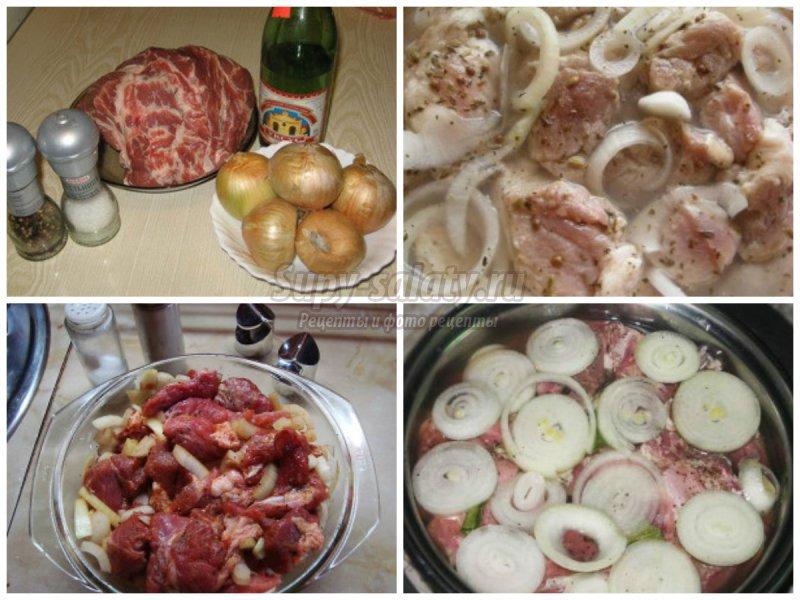 Рецепт маринования лука для шашлыка с пошагово