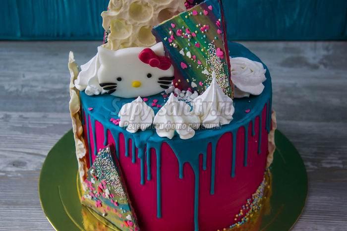 Декорирование тортов. Как сделать цветные подтеки?
