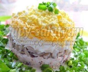 Салат с курицей и грибами и сыром: готовим вкусно, быстро и просто