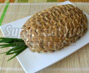 """Салат """"Грибы с ананасом"""": золотые рецепты пошагово с фото"""