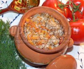Вкусная гречка с мясом в горшочке: пошаговые рецепты с фото