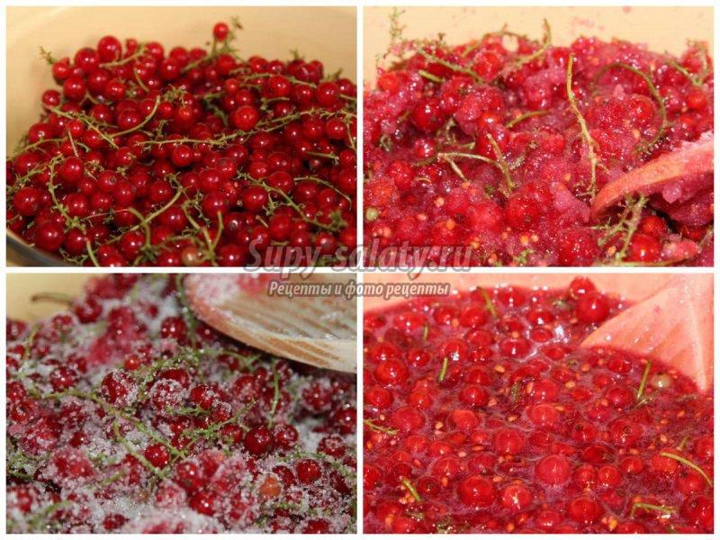 Желе из красной смородины: рецепты с фото пошагово
