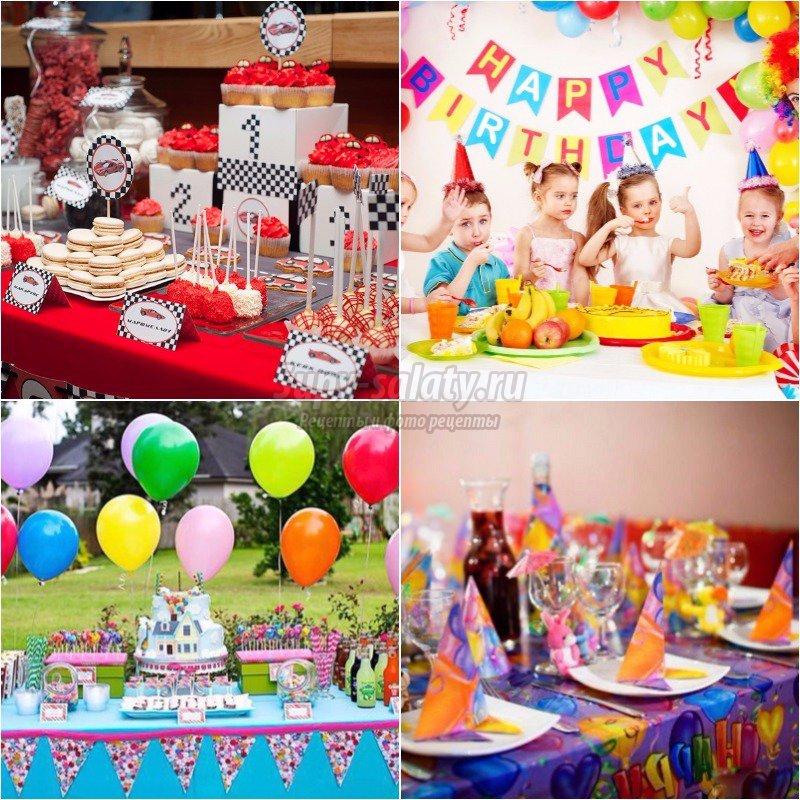 Как украсить стол к Дню Рождения ребенка