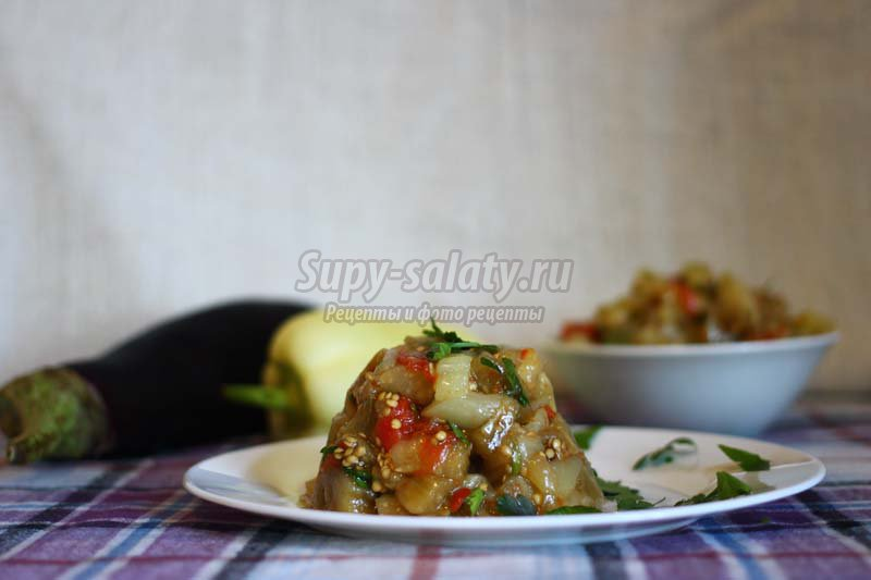 рецепт салата из печеных овощей