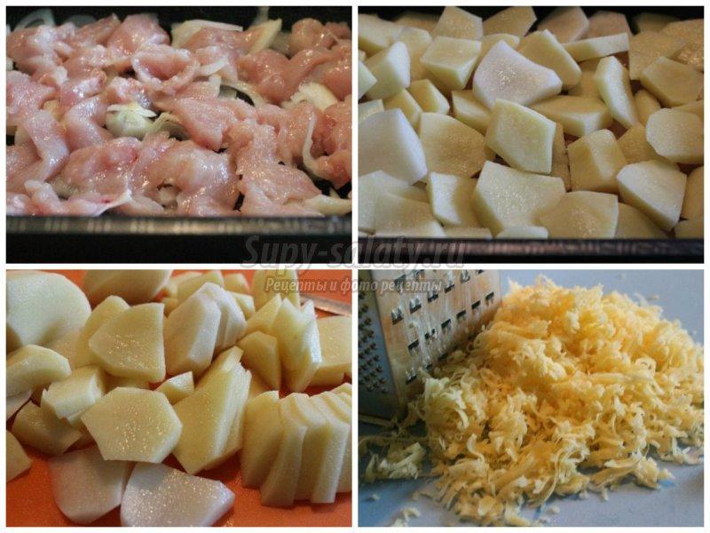 Куриные грудки с картошкой в духовке: 10 лучших рецептов с фото
