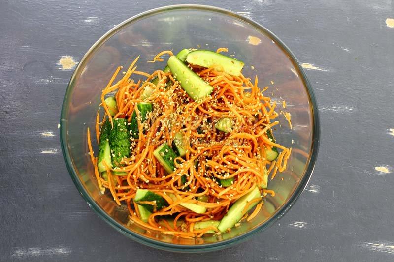салат огурцы по корейски