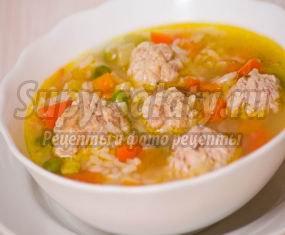 Рисовый суп с фрикадельками. Только полезные рецепты