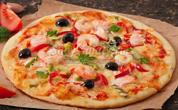Пицца с креветками пошаговое фото