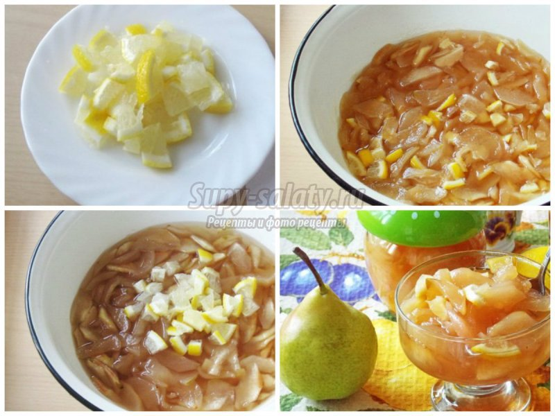 Варенье из груш с лимоном: золотые рецепты с фото